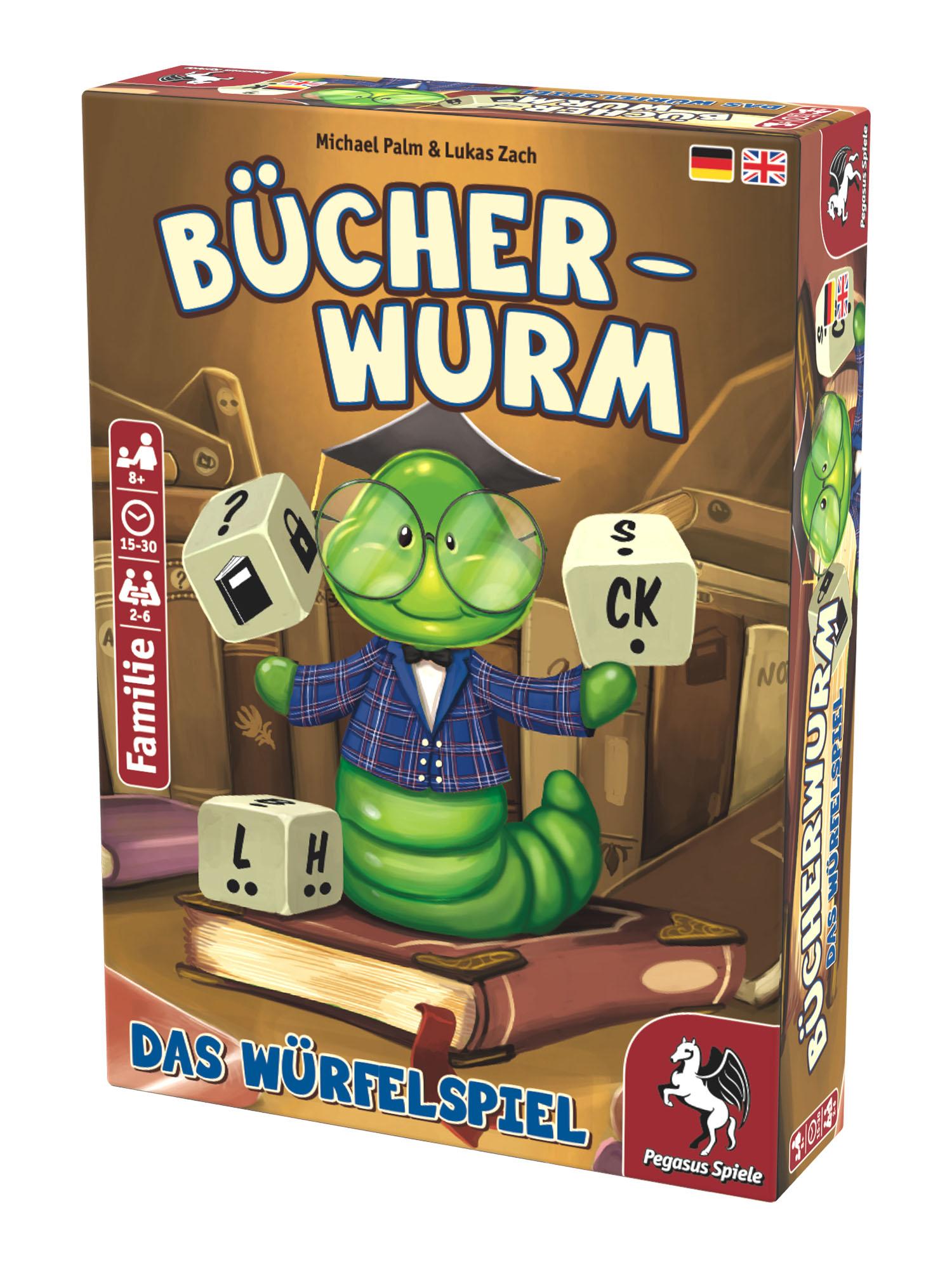 Bücherwurm - Das Würfelspiel   Bücherwurm   Themengebiete   Spiele   Pegasus.de  - Wir machen Spaß!
